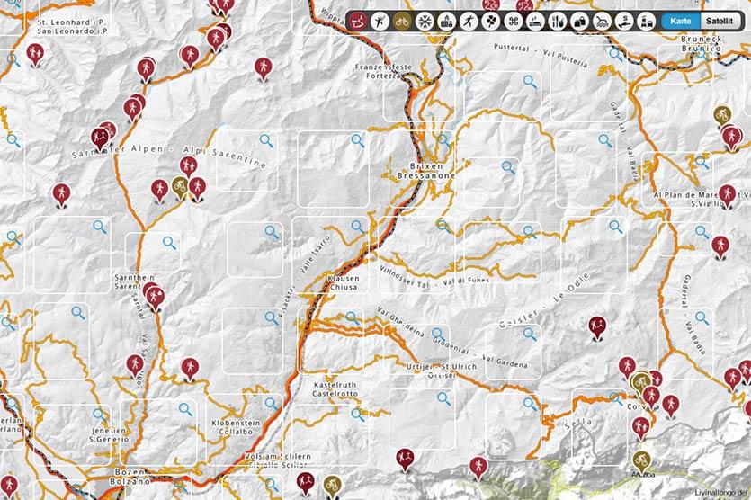 Wanderkarte Sudtirol Klausen